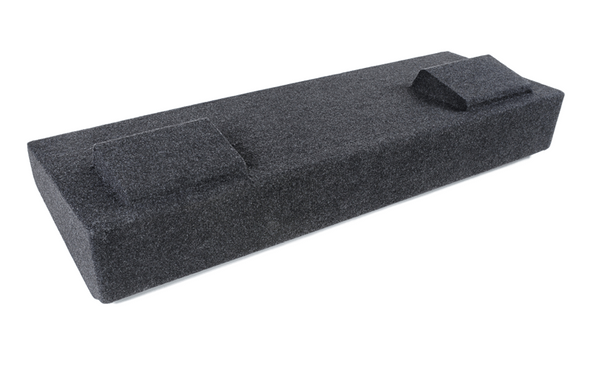"""Atrend A182-12CP Dual 12"""" Sealed Carpeted Subwoofer Enclosure for 2007-2013 Chevy Silverado and GMC Sierra HD Crew Cab Trucks"""