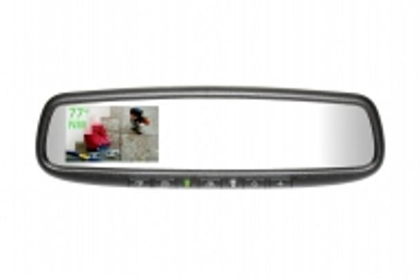 "50-GENK3350S Gentex Auto-Dimming Rearview Mirror w/ 3.3"" Rear Camera Display, Compass, Temperature & HomeLink"