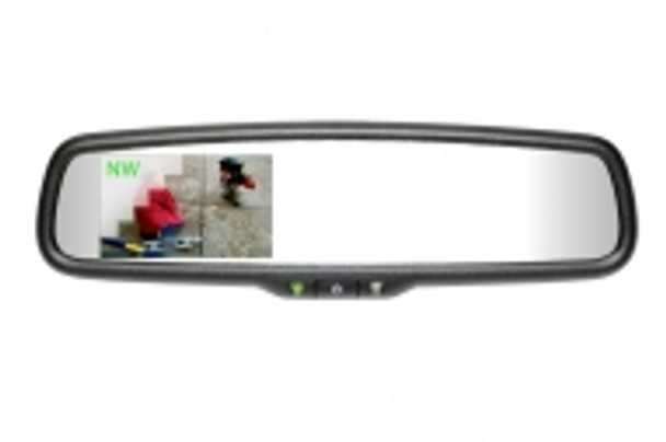 """50-2010TUNK335 Gentex Auto-Dimming Rearview Mirror w/ 3.3"""" Rear Camera Display & Compass for Prewired Toyota Tund"""