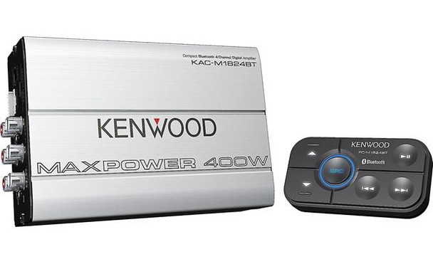 Kenwood KAC-M1824BT Compact 4-channel amplifier with Bluetooth® connectivity — 45 watts RMS x 4
