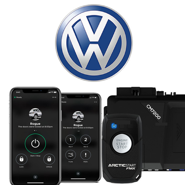 2-Way Volkswagon Remote Remote Start With Phone App Control - Price Includes Standard Installation, ***Extra Key needed to forfeit to the remote starter