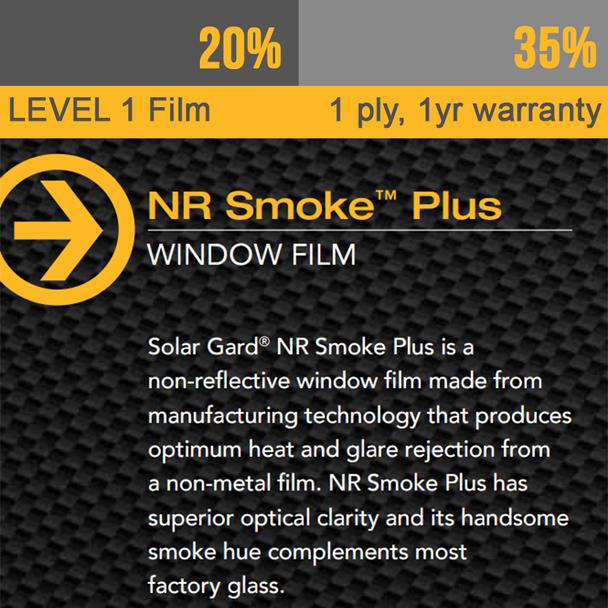 Window Tint Solar Gard NR Smoke Film with 1yr Warranty