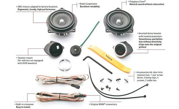 Focal Integration  IFBMW-S Plug & Play component speaker system for select 2006-up BMW 1-Series, 3-Series, and X1 models