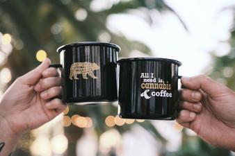 Cannabis and Coffee Camper Mug