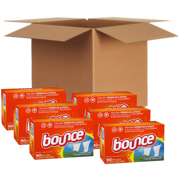 Bounce Fabric Softener Sheets, Outdoor Fresh (160 Count)