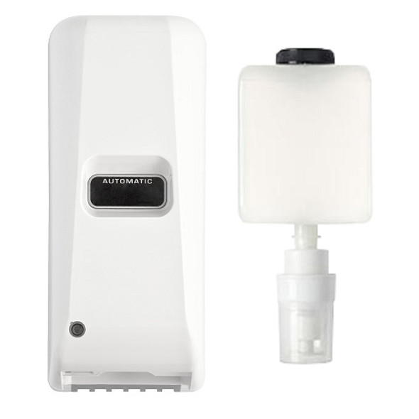 Draco Touch Free Foam Dispenser, White, with Bottle