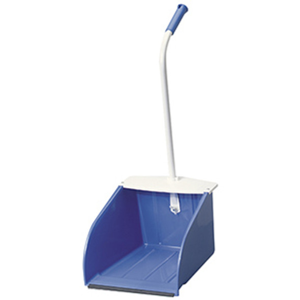 "McLane StandAlone Stand-Up Wide Mouth Dust Pan 12"", Blue"