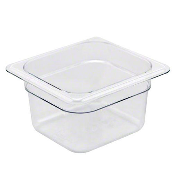 Cambro 64CW135 Camwear 1/6 Size Clear Food Pan