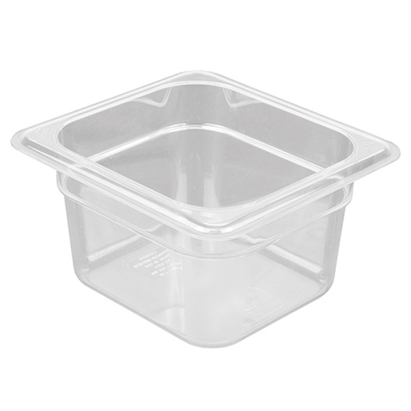 Cambro 66CW135 Camwear 1/6 Size Clear Food Pan