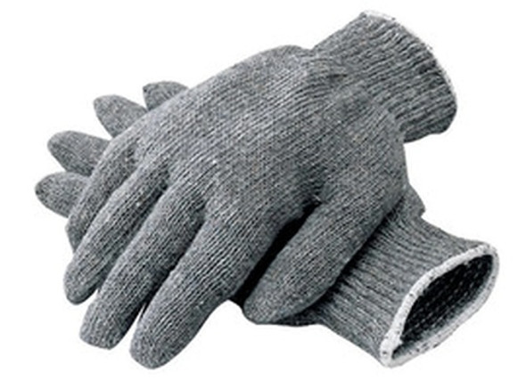 Radnor Heavyweight Cotton & Polyester Knit Gloves, Gray, Large