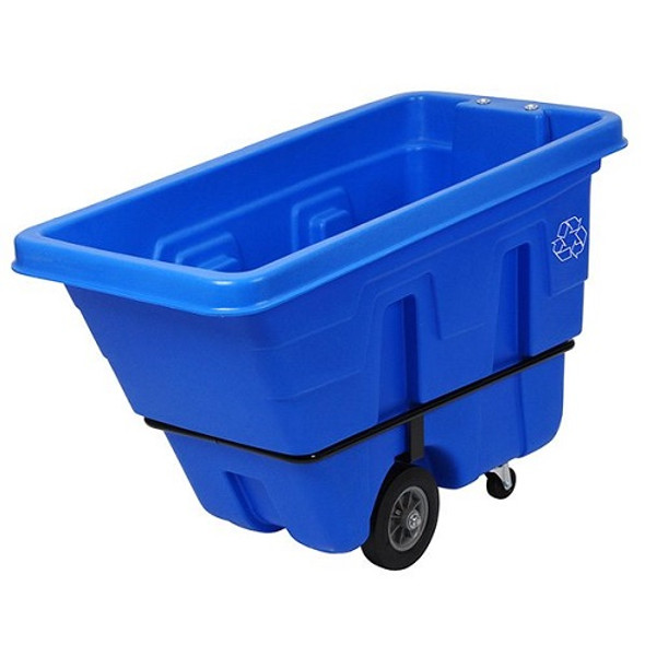 Continental Recycling Tilt Truck, 750 lb Capacity, 5/8 Cubic Yard, Blue