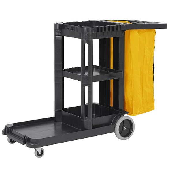Continental Janitors� Cleaning Cart, Black