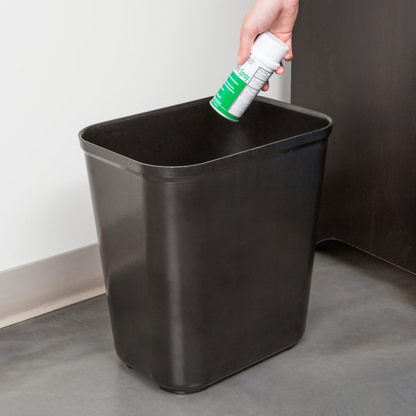 Rubbermaid Fire Resistant Wastebasket 28 QT, Black