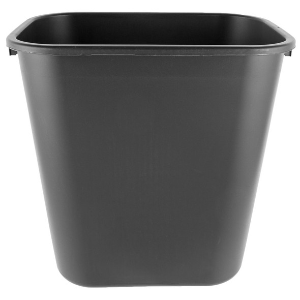 Rubbermaid Wastebasket Medium 28 QT, Black