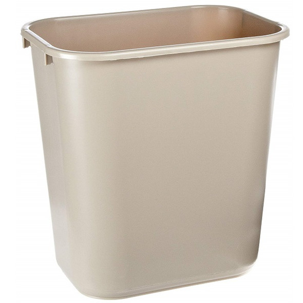 Rubbermaid Wastebasket Medium 28 QT, Beige