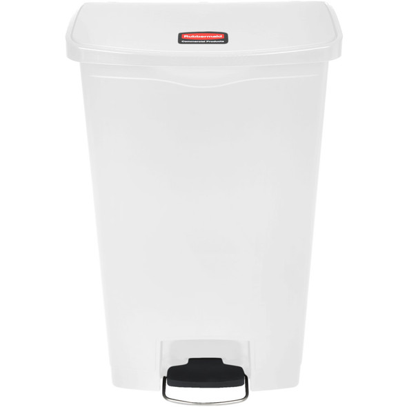 Rubbermaid Slim Jim 18 Gallon Step On Resin Front Step, White