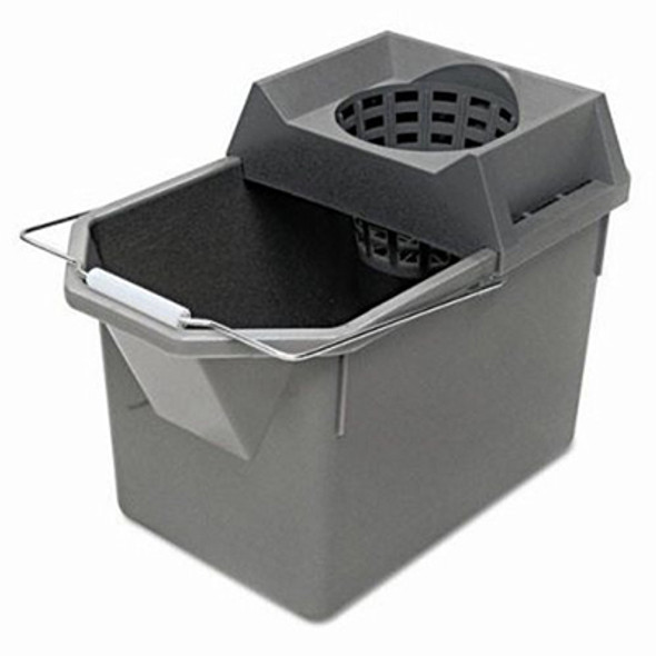 Rubbermaid Pail & Mop Strainer Combo, Gray