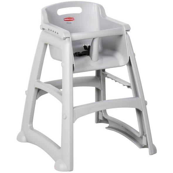 Rubbermaid Microban Sturdy Chair High Chair Without Wheels, Platinum