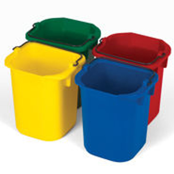 Rubbermaid 4 Pack of 5 Qt. Disinfecting Pails (Blue, Red, Yellow, Green)