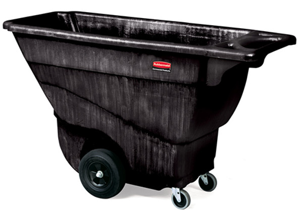 Rubbermaid Structural Foam Tilt Truck, Standard Duty, 1/2 Cubic Yard, Black