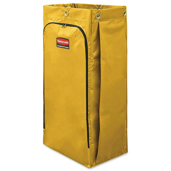 Rubbermaid 34 Gallon Vinyl Bag for High Capacity Janitorial Cleaning Carts, Yellow