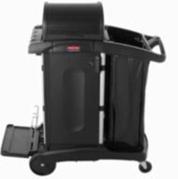 Rubbermaid Executive High Capacity Cleaning Cart Locking Door Kit, Black