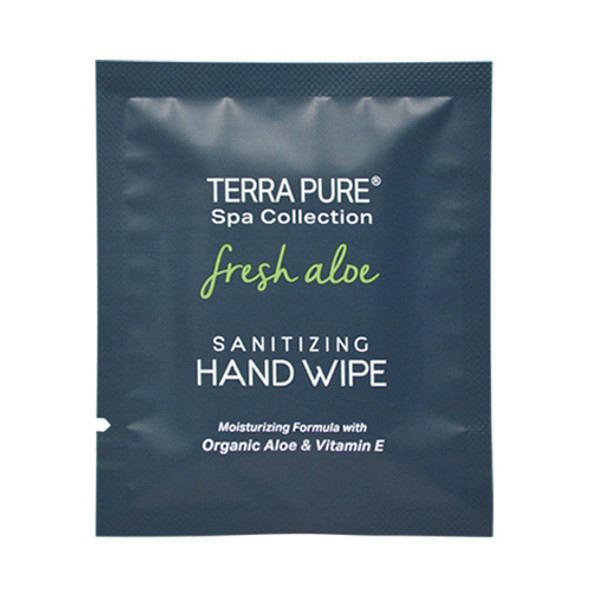Terra Pure Fresh Aloe Hand Sanitizer Wipe
