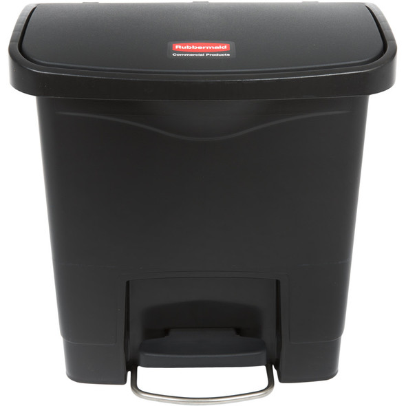 Rubbermaid Slim Jim 4 Gallon Step On Resin Front Step, Black