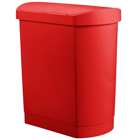 Rubbermaid Slim Jim 8 Gallon Step On Resin End Step, Red
