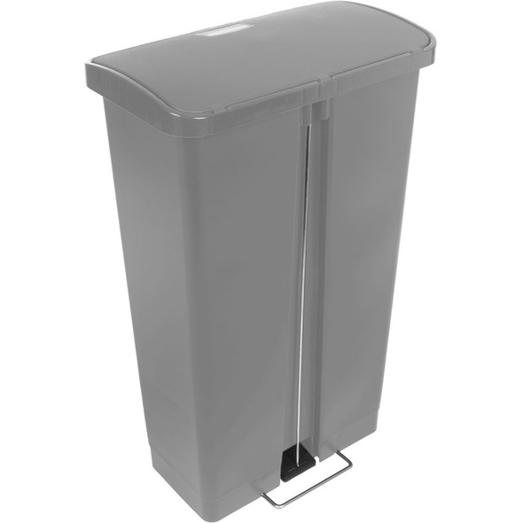 Rubbermaid Slim Jim 18 Gallon Step On Resin Front Step, Gray