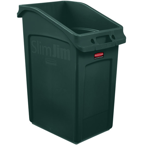 Rubbermaid Slim Jim 23 Gallon Under Counter Container, Green