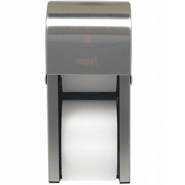 GP PRO Compact Vertical Double Roll Coreless Toilet Tissue Dispenser, Stainless Steel
