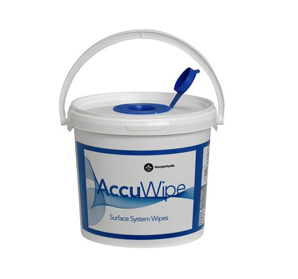 GP AccuWipe White Surface System Dispenser Bucket