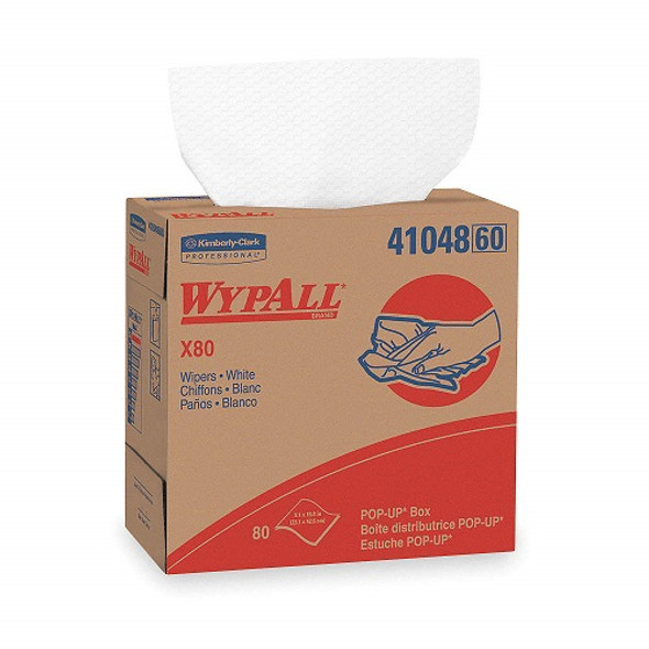 Kimberly-Clark Professional WypAll X80 Cloths Pop-Up Box, White