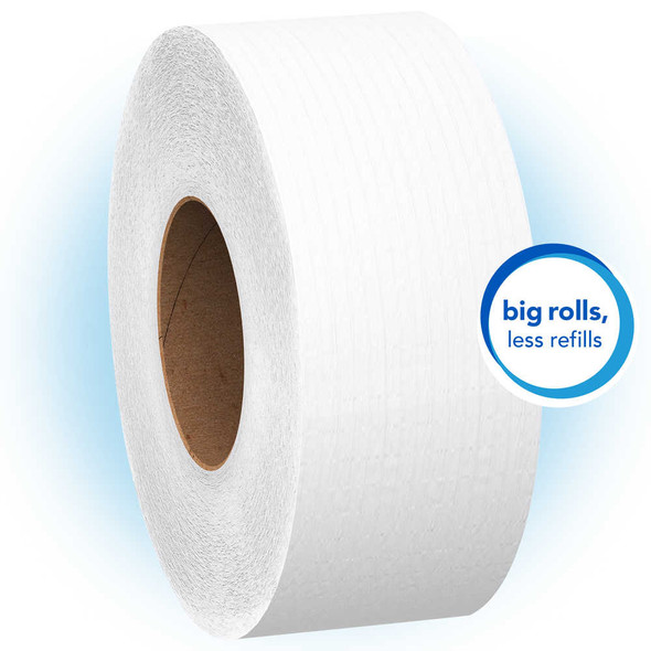 "Scott Essential 100% Recycled Fiber JRT 9"" Jumbo Jr. Roll 2 Ply Bathroom Tissue, 12/1000"
