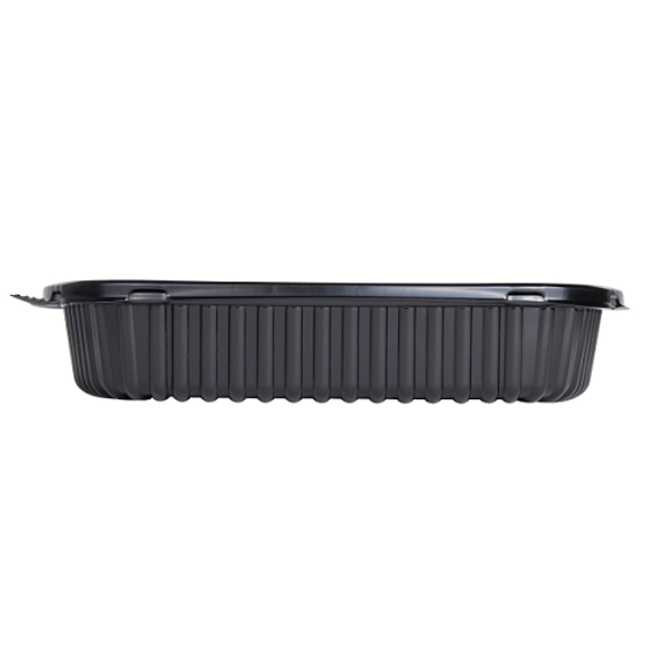 Karat 36oz PP Plastic Microwaveable Take out Box, Black