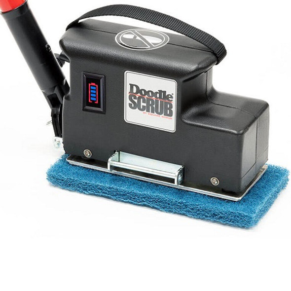 Square Scrub Doodle Scrub EBG-9-Bat Battery Scrubber with Extra Battery