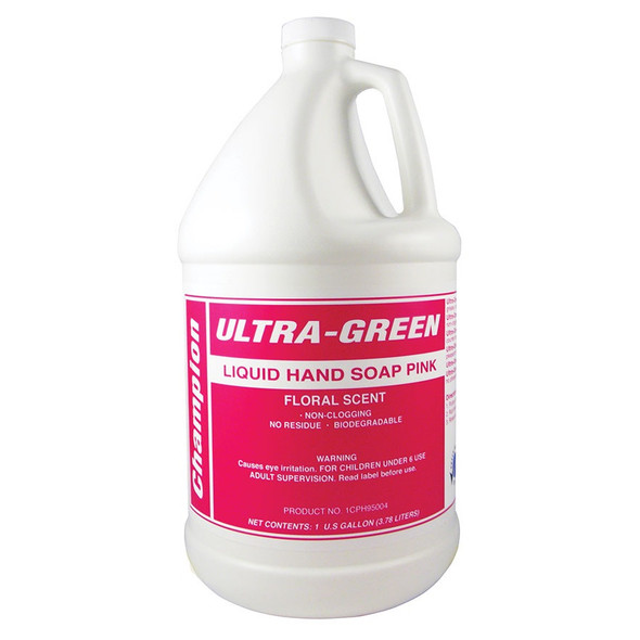 Champion Ultra-Green Hand Soap Pink, Floral Scent