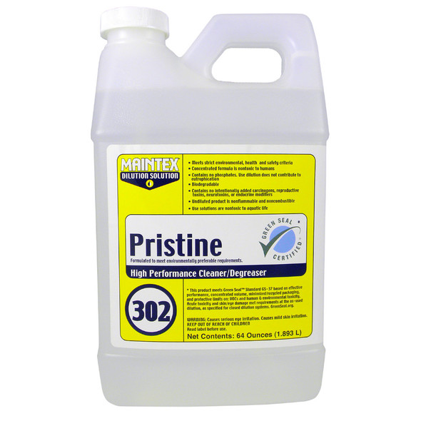 Maintex #302 Pristine All-Purpose Cleaner(Dilution Solution), 64 oz.