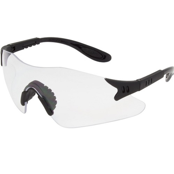 Safety Zone Wrap Around Protective Eye Wear with Adjustable Temple, Clear