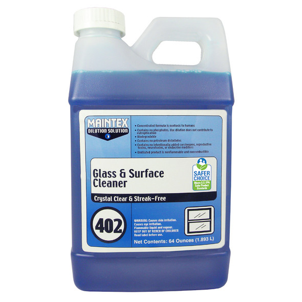 Maintex #402 Glass & Surface Cleaner (Dilution Solution), 64 oz.
