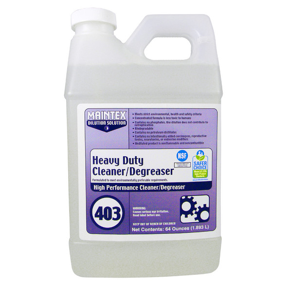 Maintex #403 Heavy Duty Cleaner Degreaser (Dilution Solution), 64 oz.