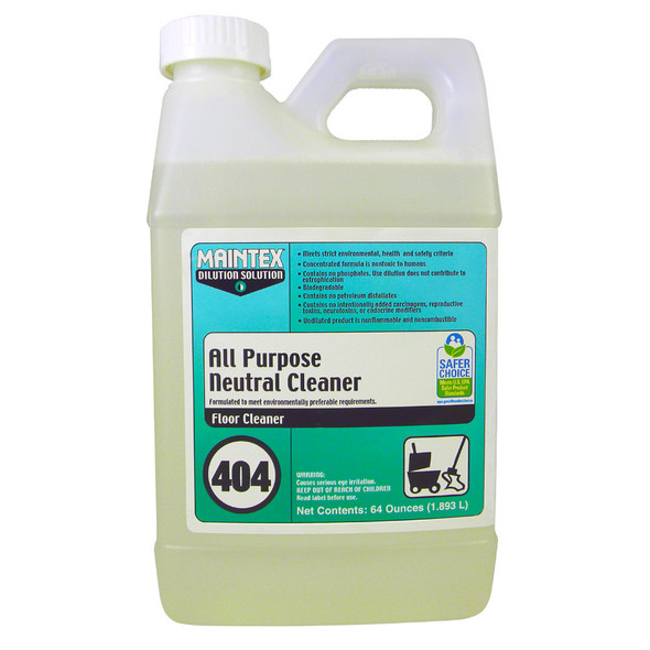 Maintex #404 All Purpose Neutral Cleaner (Dilution Solution), 64 oz.