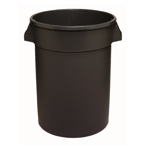 Continental Tuffcan 32 Gallon Round Receptacle, Black