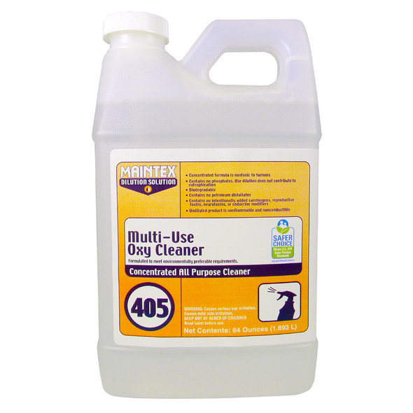 Maintex #405 Multi-Use Oxy Cleaner (Dilution Solution), 64 oz.