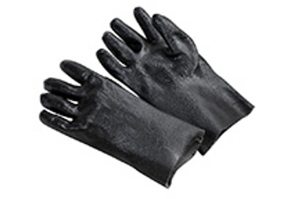 Gloves, 12 inch single dipped, PVC, smooth finish 12/pack