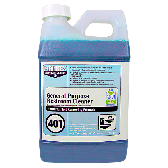 Maintex #401 General Purpose Restroom Cleaner (Dilution Solution)