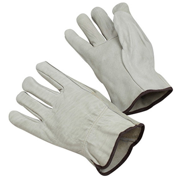 GLOVE LEATHER DRIVERS MED 4720M JWI COW GRAIN