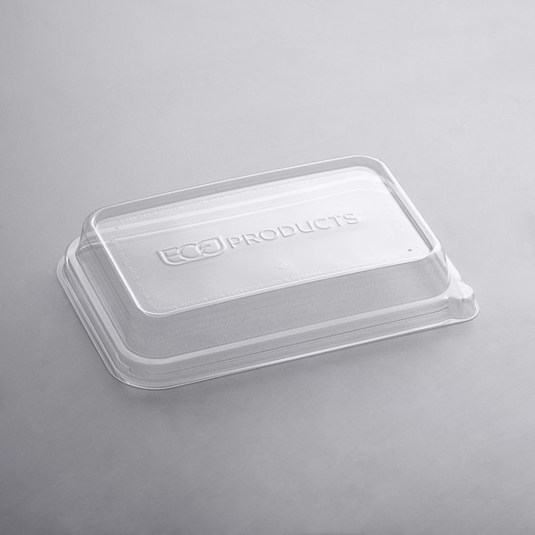 Eco Products WorldView 24-32 oz. 100% Recycled Content Rectangular Plastic Lid