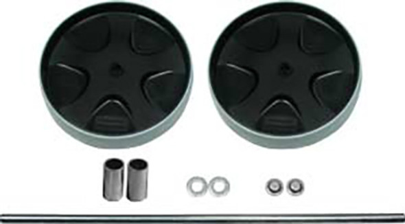 "Rubbermaid 8"" Wheel Kit   with Axle & Hardware Assembly"